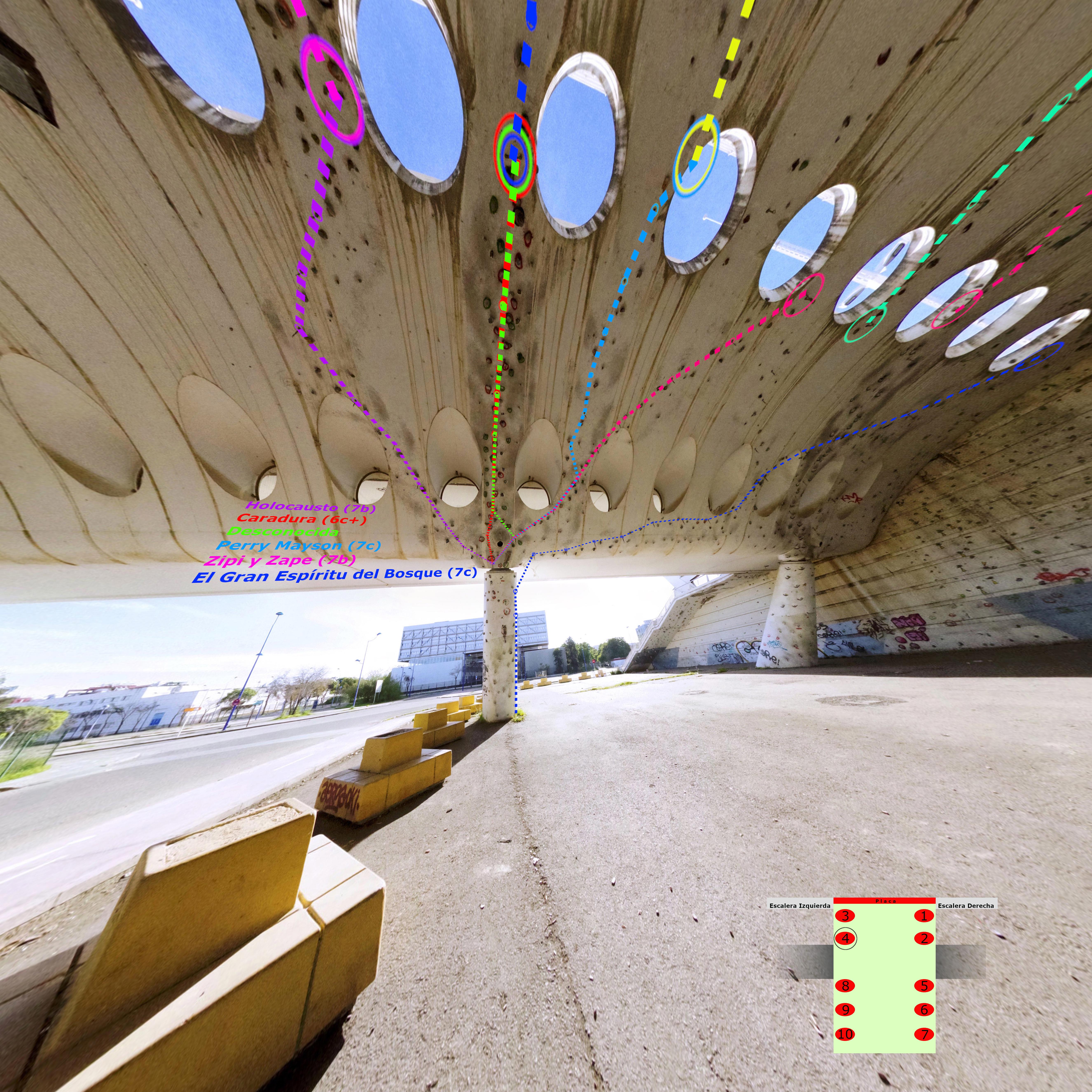 Croquis Puente Alamillo Columna 4