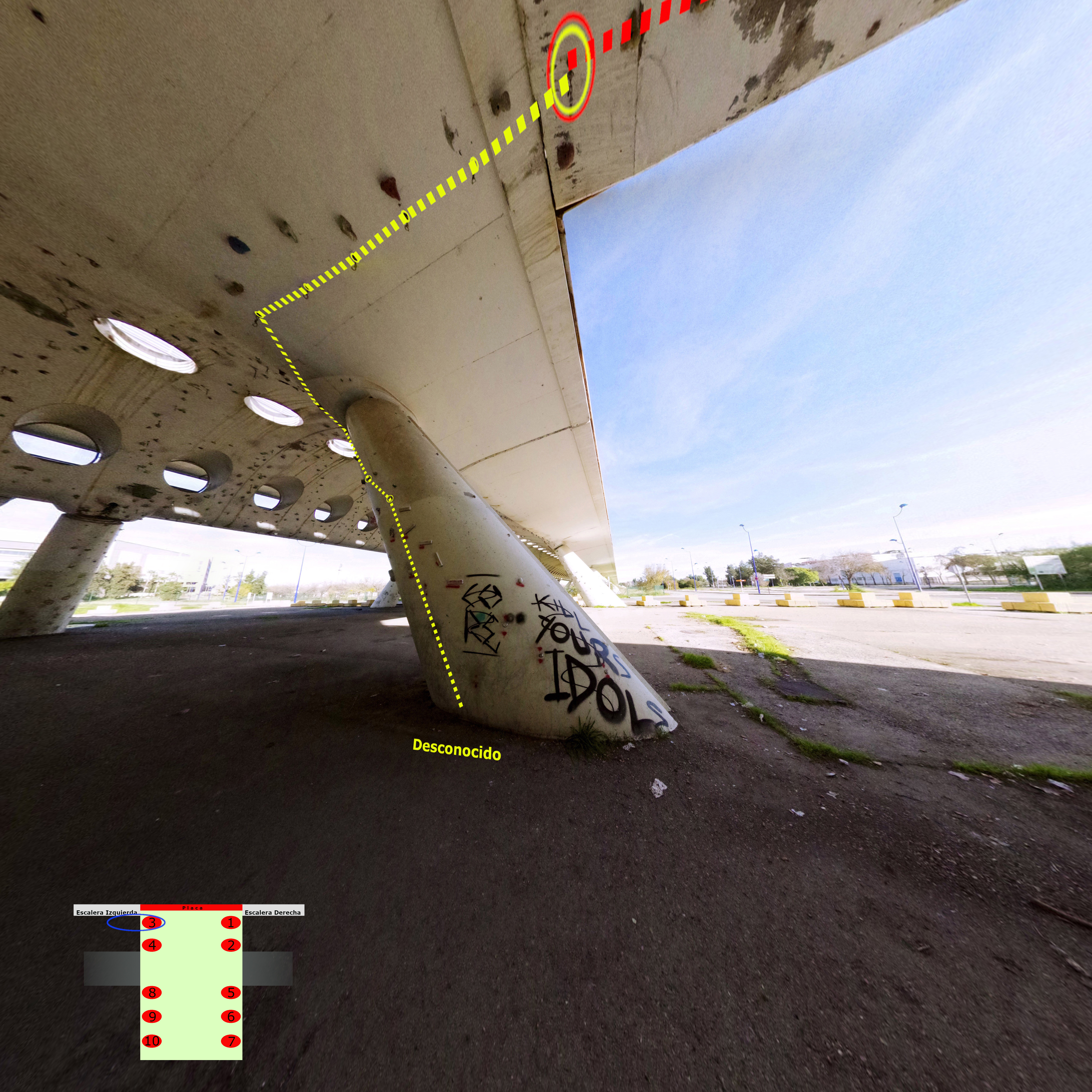 Croquis Puente Alamillo Techo Columna 3
